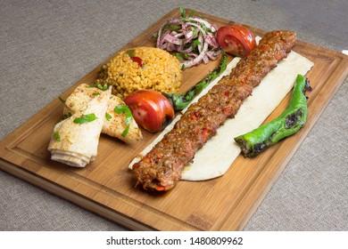 Turkish grill kebap menu, adana kebap