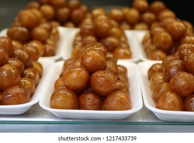 Turkish Honey Balls Lokma Tatli ready for customers