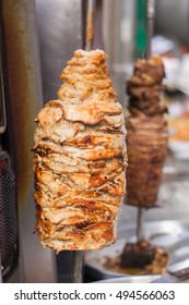 Turkish kebab street food in city bangkok from thailand,copy space,selective focus.