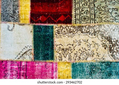 Turkish kilim patchwork as a background