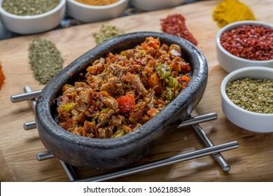 turkish kokorec kebab