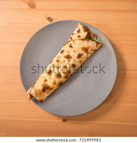 Turkish Lahmacun Pide Pizza Top View Stock Photo Edit Now