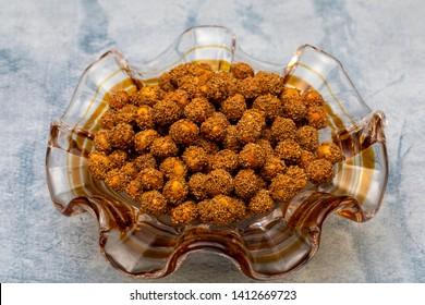 Turkish leblebi.Turkish Double roasted chickpea. Corum, Turkey