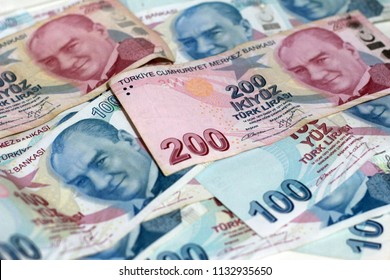 Turkish Lira banknots. 100 TL and 200 Tl.
