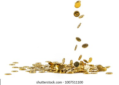 Turkish lira coins. Turkish lira money. Turkish lira currency.Coins stacked on each other in different positions.Turkish lira in flax pouches Moneypenny concept.