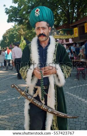 Turkish Man Ottoman Outfit Posing Sword Stock Photo Edit Now