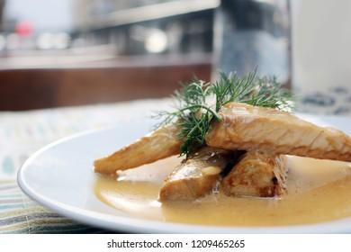 Turkish meze, levrek, fish meal