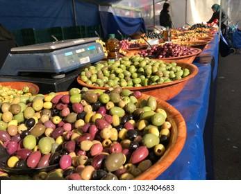 Turkish olives for sale in market