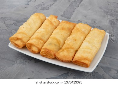 Turkish Pacanga Boregi with cheddar (melted) cheese. / With cheese Borek.