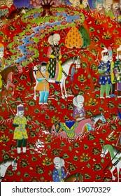 Turkish painting on ceramic plate