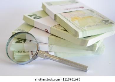 Turkish paper banknotes