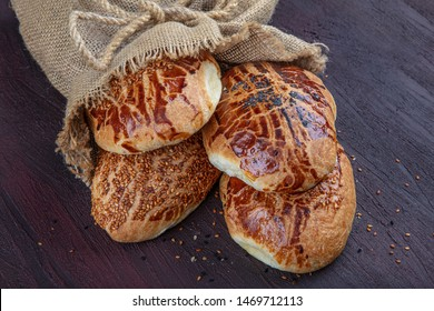 Turkish pastry product , tasty pogaca. Turkish Pastries; pogaca, borek, acma, simit, at patisserie showcase.