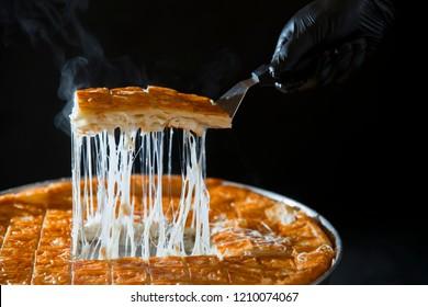 Turkish patty; pastry tray (su böregi, su borek)