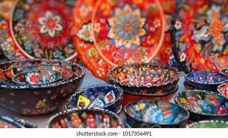 Turkish Pottery at Kusadasi Market