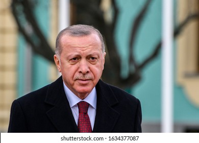 Turkish President Recep Tayyip Erdogan in Kiev, Ukraine February 3, 2020