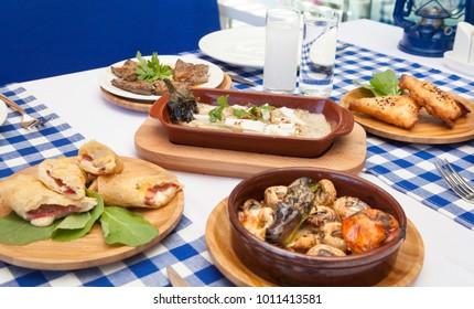 Turkish Raki Meze Table Setup