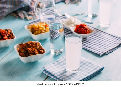 Turkish Raki, Ouzo and Appetizer