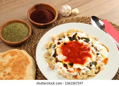 Mantı - Turkish Ravioli Served with Yoghurt