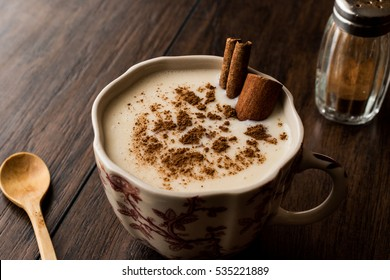 Turkish Salep with cinnamon sticks / Christmas Eggnog