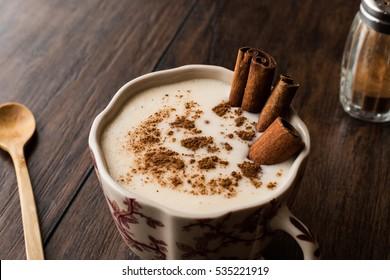 Turkish Salep with cinnamon sticks / Christmas Eggnog