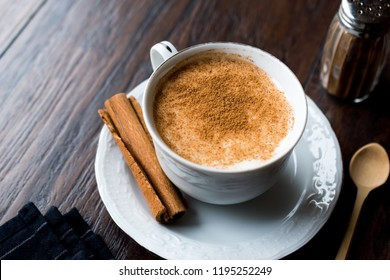 Turkish Salep or Sahlep with cinnamon sticks / Christmas Eggnog