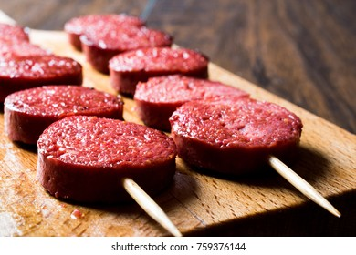 Turkish Sausage on Skewers / Sucuk