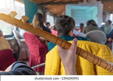 Turkish Saz Bağlama ethnic instrument