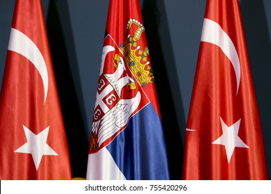 Turkish and Serbian flags