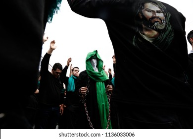 Turkish Shiite worshipers participate in a religious procession held on the holy day of Ashura in Istanbul, Turkey on Oct. 23, 2015