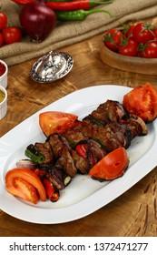 Turkish Shish kebab - Grilled beef meat