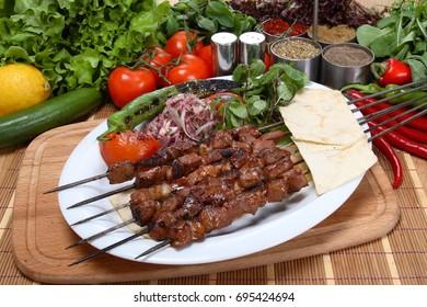 Turkish Sis Kebab isolated /Turkish Sis Kebap
