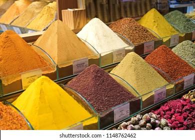 Turkish spice bazaar in istanbul - Turkey