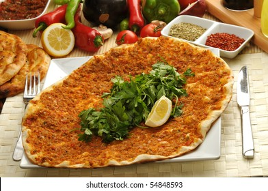 Turkish style Minced lahmacun