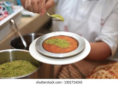 Turkish sweet is kunefe