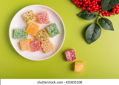 Turkish sweets with coconuts flakes