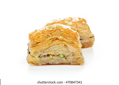 Turkish sweets on a white background