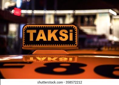 Turkish Taxi in Istanbul