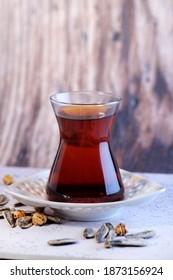 turkish tea enjoyment, turkey country bursa city, blacksea karadeniz city tea , core and roasted chickpea