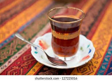 Turkish tea in a glass beaker
