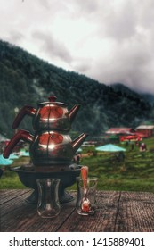Turkish tea time in Ayder plateau