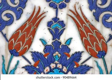 Turkish tile, Rustem Pasa Mosque, Istanbul, Turkey