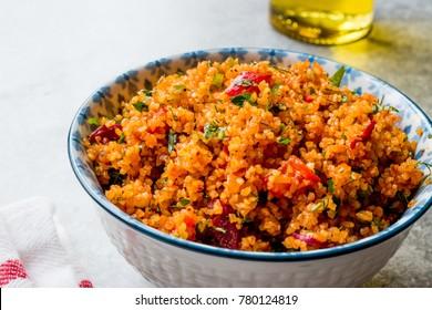 Turkish Traditional Bulgur Salad Kisir