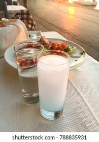 Turkish Traditional Drink Raki, Greek Ouzo