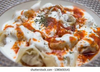 Turkish Traditional Manti Food