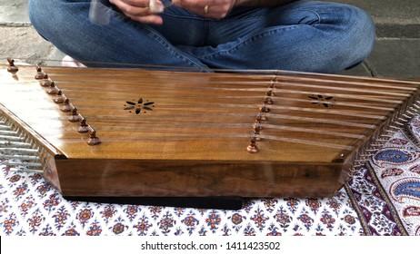 Turkish traditional music instrument, kanun.