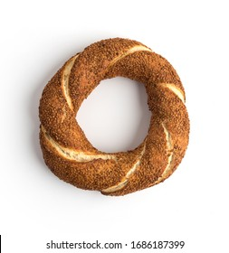 Turkish traditional sesame bagel ( Simit )