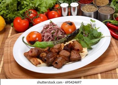 Turkish Traditional Sis Kebap (kuzu sis)