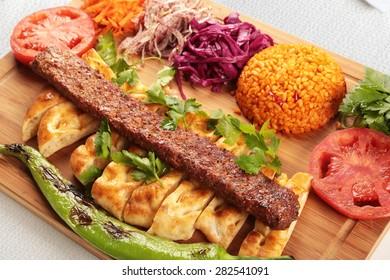 Turkish Traditional Special cultural Food Adana Kebab