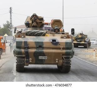 Turkish troops enter Syria to clear ISIL and YPG from Jarablus (Operation's name is Euphrates Shield), 22 August 2016, Karkamis, Turkey
