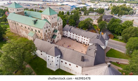 Turku Castle, aerial photo